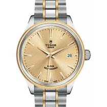 Tudor Style 12503 Champagne Index Yellow Gold & Stainless...