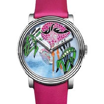 Boucheron Crazy Jungle Flamingo in White Gold