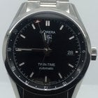 TAG Heuer CARRERA TWIN TIME BOX PAPERS YEAR 2014 LIKE NEW