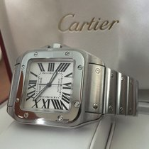 Cartier Santos 100 XL Pilot Steel White Roman Dial (51 x 40 mm)