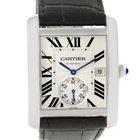 Cartier Tank Mc Automatic Silver Dial Mens Watch W5330003 Unworn