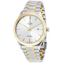 Tudor Style Silver Dial Automatic Men's Two Tone Watch