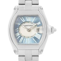 Cartier Roadster Ladies Blue Dial Steel Watch W62053v3