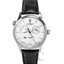Jaeger-LeCoultre Master Geographic Stainless Steel Silver/Leat...