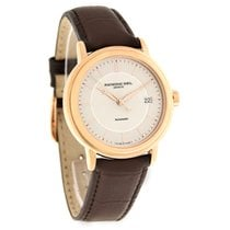 Raymond Weil Maestro Mens Brown Leather Band Watch 2837-PC5-65001