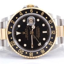 Rolex Mens 18K/SS GMT-MASTER II - Black Dial - Oyster Band -...