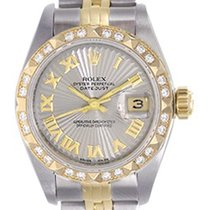 Rolex Ladies Rolex Datejust Watch 69173 Genuine Rolex Rhodium...