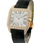 Cartier Santos Dumont w/Diamond Case Large Size