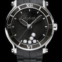 Chopard Happy Sport 42mm Quartz  Black Dial With Diamonds T