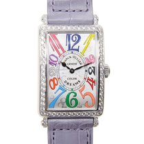 Franck Muller New  Long Island Stainless Steel Silver Quartz...