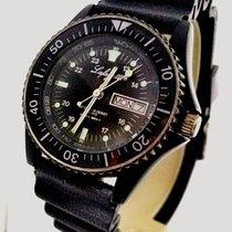 Lafayette Vintage Military Diver 24H Black Dial Men's PVD