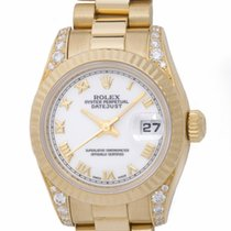 Rolex - Ladies Datejust President : 179238 white dial on...