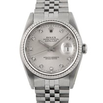 Rolex Datejust Steel with Original  Diamond Dial, Ref: 16234