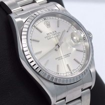 Rolex Datejust 16220 36mm Oyster Silver Stick Dial Watch...