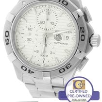 TAG Heuer Aquaracer Silver 42mm Chronograph Stainless Watch