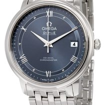 Omega De Ville Prestige Blue Dial Stainless Steel Automatic...