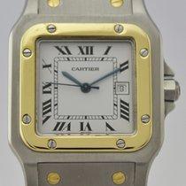 Cartier SANTOS 18K GOLD ANDS STEEL