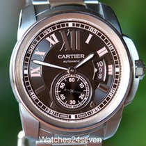 Cartier Calibre De Cartier Chocolate Dial 18K Rose Gold &...