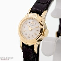 Tudor Damenuhr Mini Ref-1504 18k Yellow Gold Papers Bj-1958