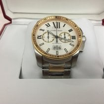 Cartier Calibre de Cartier Chronograph Rose/Steel