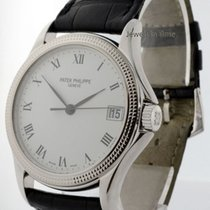 Patek Philippe 5117 Calatrava 18k White Gold Mens Watch...