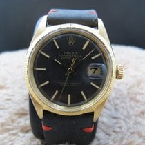 Rolex DATEJUST 1607 18K YG with Original Charcoal Dial and...