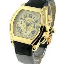 Cartier W62021Y3 Roadster Chronograph - Yellow Gold on Strap...