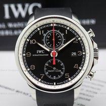 IWC IW390204 IWC Portuguese Yacht Club Flyback SS Black Dial...