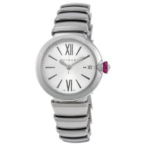 Bulgari Bvlgari Ladies LU33C6SSD LVCEA Silver Opaline Dial Watch