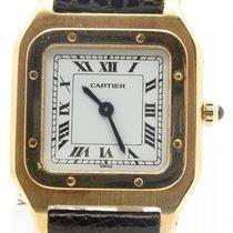 Cartier Paris Santos Dumont 18k Yellow Gold Rare 1980's...