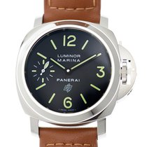 Panerai New  Luminor Stainless Steel Black Manual Wind PAM01005