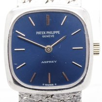 Patek Philippe Asprey Lady's Solid 18k White Gold Manual...