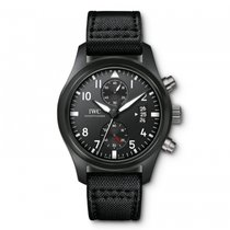 IWC Pilots Watch Black Automatic 46mm IW388007