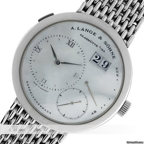 A. Lange &amp;amp; Shne Lange 1 Mother Of Pearl Dial Weigold 160.029