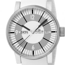 Fortis Spacematic Classic White Stahl Automatik 40mm