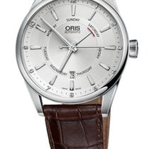 Oris Artix Day Date Pointer Date Leather