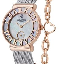 Charriol St Tropez Mother of Pearl Dial Chevron Cable Ladies...