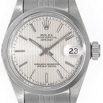 ロレックス (Rolex) Ladies Rolex Date Watch 79160 Silver Tapestry Dial