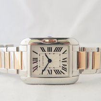 Cartier Tank Anglaise Steel & Rose Gold Small Ref 3485
