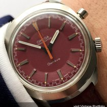Omega Rare Omega Geneve Chronostop Chronograph with red dial...