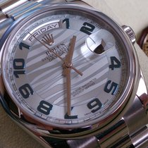 Rolex Daydate Platin ICE BLUE WAVE +Neuzustand+ Box & Papiere