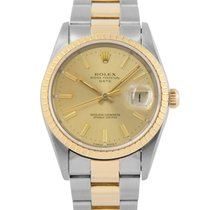 Rolex Date Steel & Gold with Champagne Dial, Ref: 15233