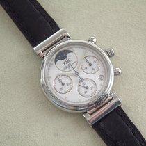 IWC Da Vinci Damenuhr Chronograph Mondphase Stahl TOP