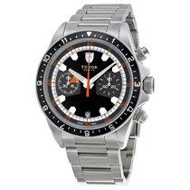 Tudor Heritage Black Dial Stainless Steel Mens Watch 70330N-BKSS