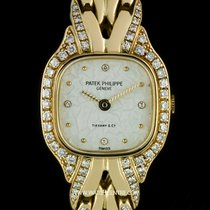 Patek Philippe 18k Y/G Double Name Tiffany Diamond Dial La...