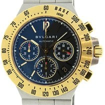 Bulgari Diagono 18K Gold and Stainless Steel Professionial...