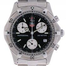 TAG Heuer Professional Chronograph 1/10 Sec. Stahl Quarz...