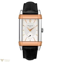 Patek Philippe Gondolo Platinum 18K Rose Gold Leather Men`s Watch