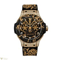 Hublot Big Bang Broderie Automatic 18K Yellow Gold Rubber...