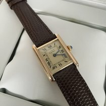 Cartier Tank Must Vermeil Silver Lady Watch Roman Dial (28 x...